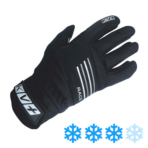 6G08.1 KV+ Race Gloves Black Outer Side