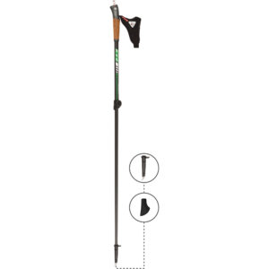 3W04CL KV+ Maestro-L Clip Pole. KV+ KV Plus Nordic Walking Poles in Canada and USA