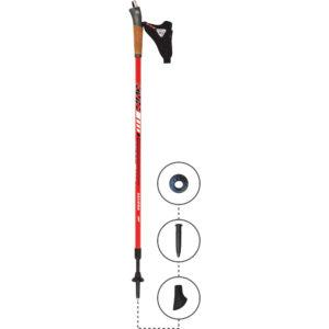 3W06C KV+ Zaluna Clip Pole Full Length. KV+ KV Plus Nordic Walking Poles in Canada and USA