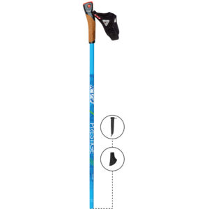5W09CBGP KV+ Prestige Clip Powe Pole blue-green. KV+ KV Plus Nordic Walking Poles in Canada and USA