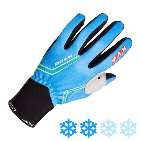 8G08.2 KV+ Race Blue Gloves Outer Side